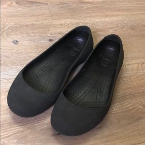 Women's black Croc slip ons